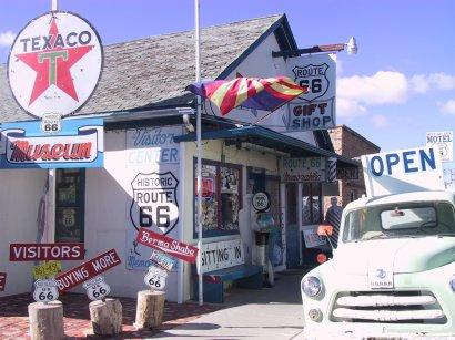 Angel Delgadillos Barber Shop & GiftShop, Seligman, AZ